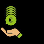 Grünes ISTmobil Geld Icon