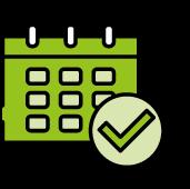 Grünes ISTmobil Kalender Icon
