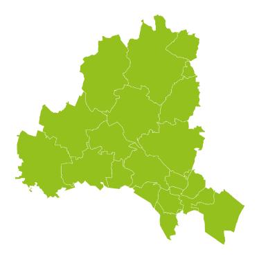 Karte der ISTmobil Region Korneuburg