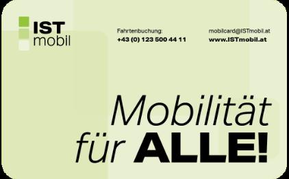 Vorderseite der ISTmobil mobilCard