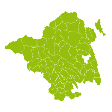 Grüne Karte der ISTmobil Region SAM Sammeltaxi Oststeiermark