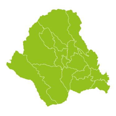 Grüne Karte der ISTmobil Region VOmobil Lippizanerheimat