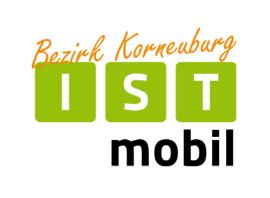 Logo der ISTmobil Region Korneuburg in Grün und Orange