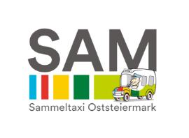 Logo der ISTmobil Region SAM Sammeltaxi Oststeiermark bunt