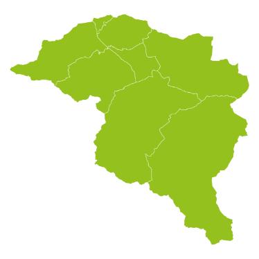 Grüne Karte der ISTmobil Region go&ko Anruf-Sammeltaxi